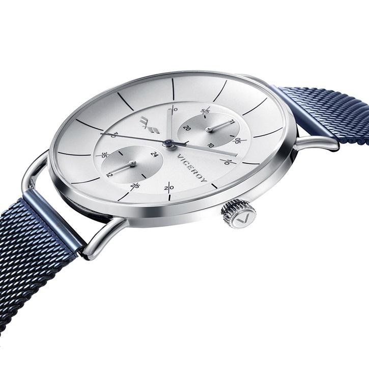 e7a08d5756ce Reloj Viceroy hombre acero IP azul malla milanesa. Colección Antonio  Banderas.