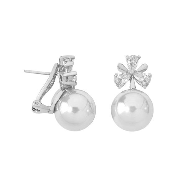 a48d86437a0d Comprar barato Pendiente perla Majórica circonitas plata 1ª Ley sin ...
