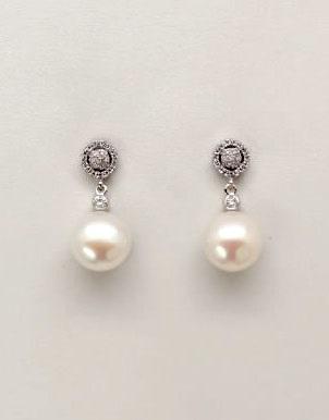 d91a15e66b Comprar online baratos Pendiente de Novia Plata corto perla con ...
