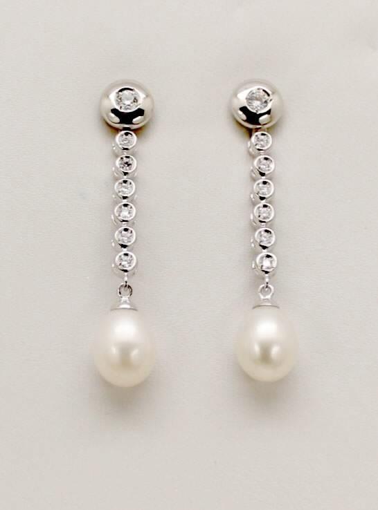 bc205f05f80a Comprar online baratos Pendientes de Novia Plata con perla pera y ...