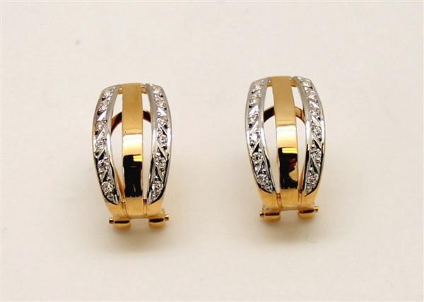 58222ba05425 Comprar barato Pendientes mujer Oro 18 K circonitas. Cierre Omega ...