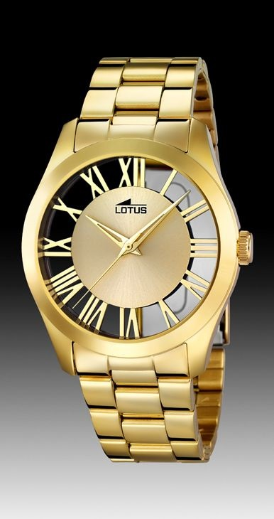 f7e330f08396 Comprar en oferta Reloj Lotus mujer acero IP chapado oro. Colección ...