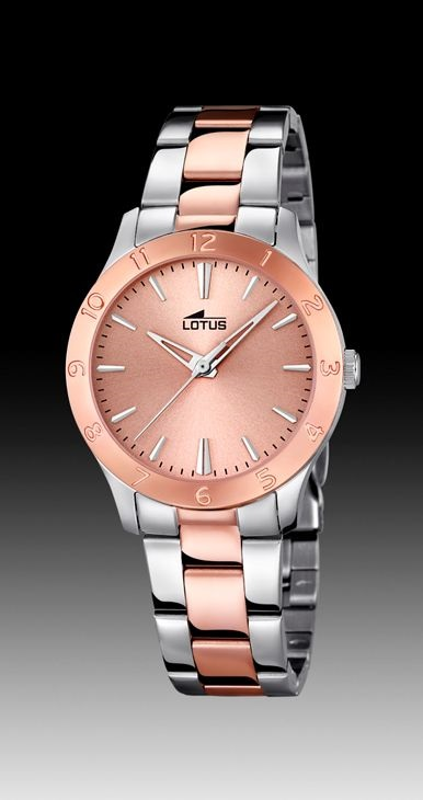 b2e3a7de0b7c Reloj Lotus mujer acero bicolor rosa.