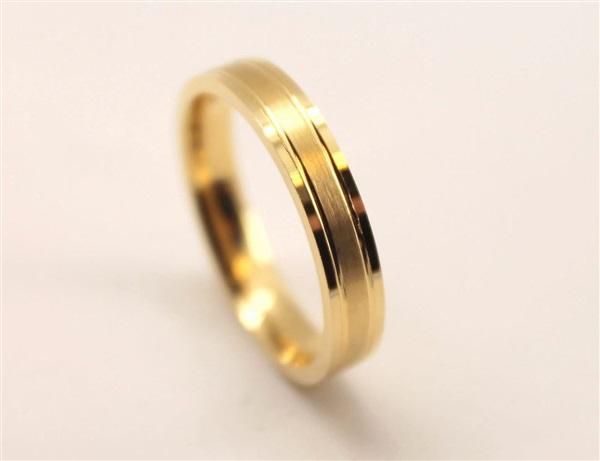 e5aa9dc77041 Comprar Alianza de boda baratas oro amarillo mate brillo baratas ...