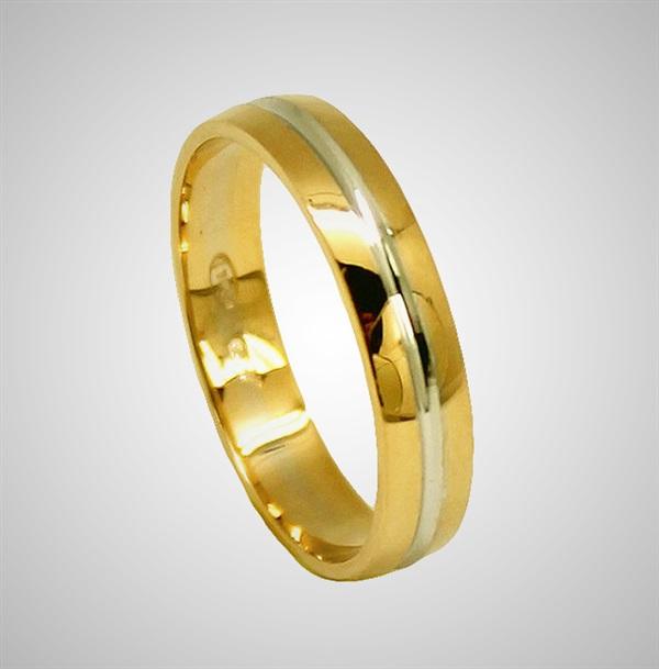 8903beaf9959 Alianzas de boda oro amarillo y oro blanco 18 K.