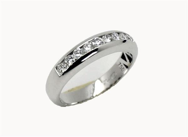 527e2c3f6eb2 Comprar online Anillo de compromiso mujer oro blanco 18 K brillantes ...