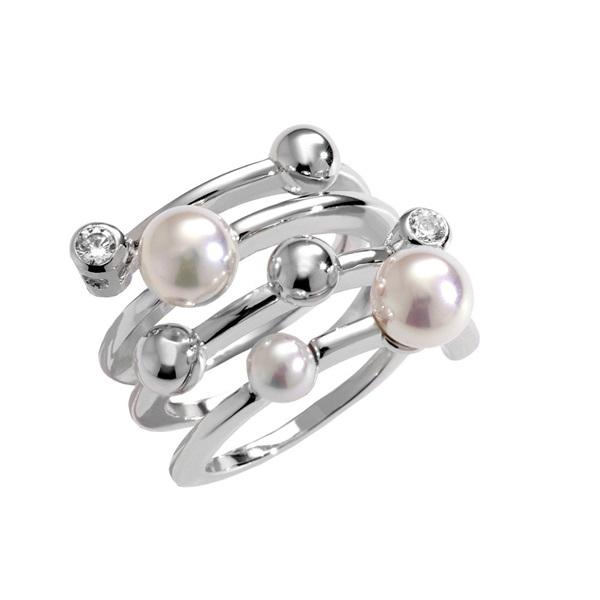 46e8389b7 Anillo perla Majórica plata 1ª Ley. - PRECIOS BARATOS. Comprar en ...