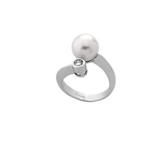 b6958f8a277e Anillo plata 925 000 perla Majórica con circonitas - PRECIOS BARATOS ...