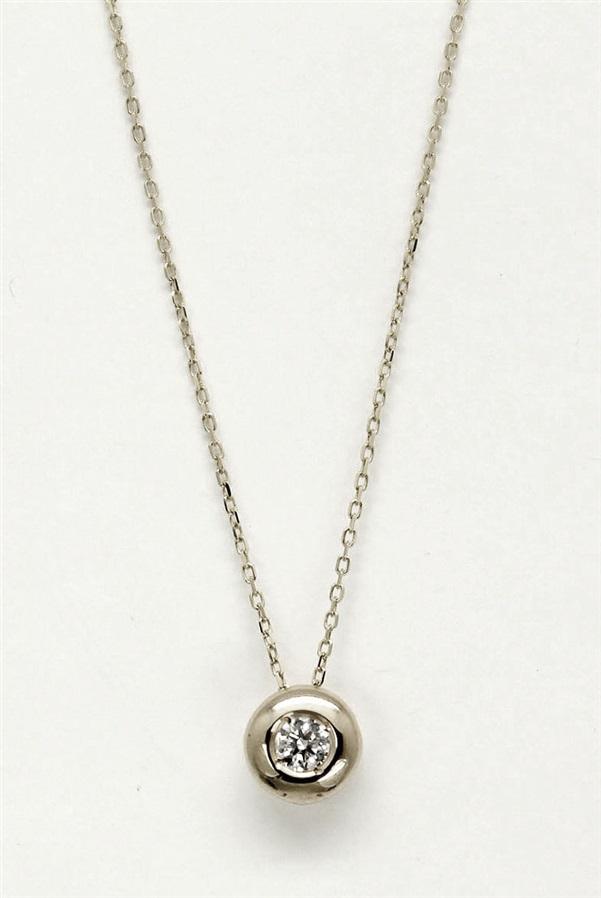 mejor servicio b4be8 77b81 Colgante mujer oro blanco 18 K chatón con diamante