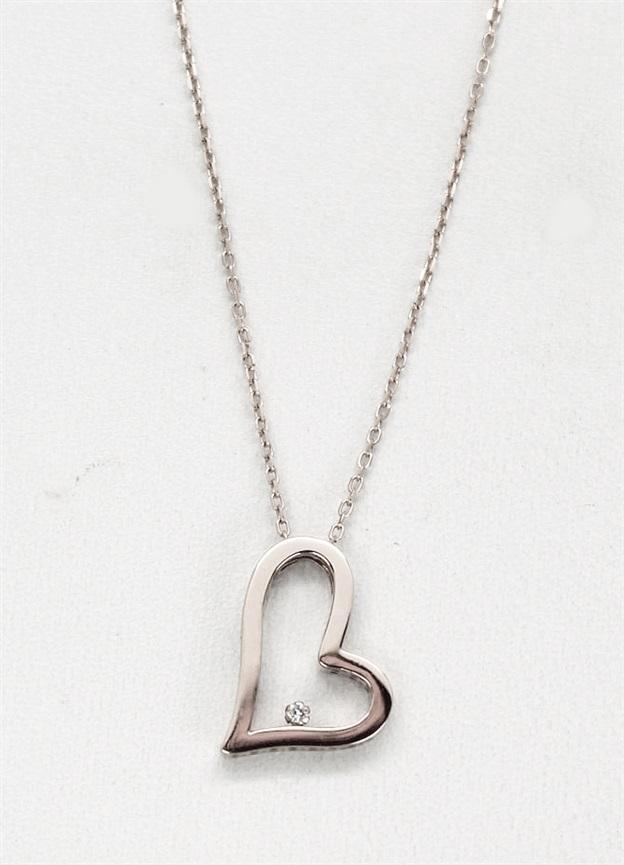 e7b12bd58349 Comprar barato Colgante mujer oro blanco 18 K corazón con diamante y ...