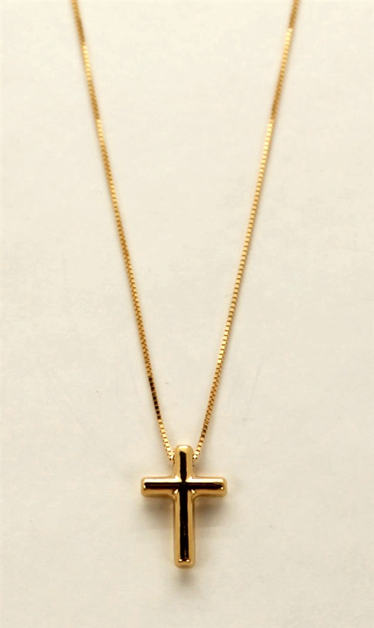 c4e13c58c13a Colgante oro 18 K cruz pequeña con cadena oro. - PRECIOS BARATOS ...
