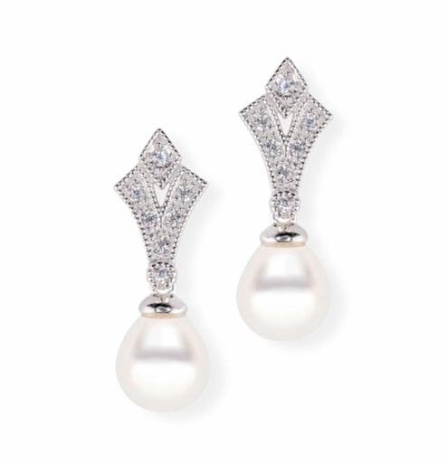 c7081cb70a3c Comprar online baratos Pendiente de Novia cortos con perla cultivada ...