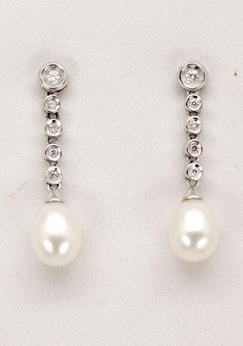 23cd48b7f66e Comprar online Pendiente de Novia Oro Blanco 1ª Ley perla cultivada ...