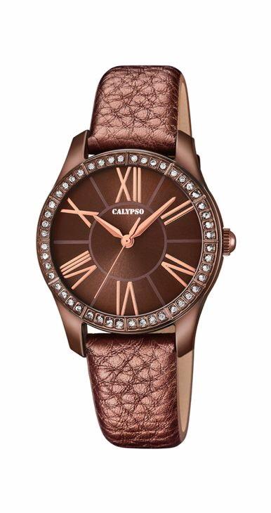 e0cf11414eec Reloj Calypso mujer analógico correa piel marrón. - PRECIOS BARATOS ...