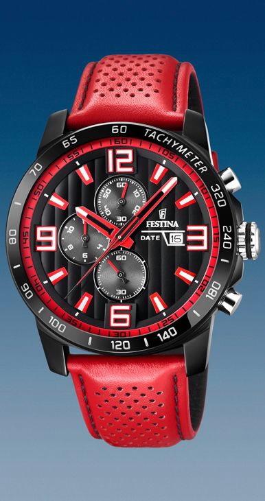 d6ef19c9165 Comprar online Reloj Festina hombre cronómetro correa piel color ...