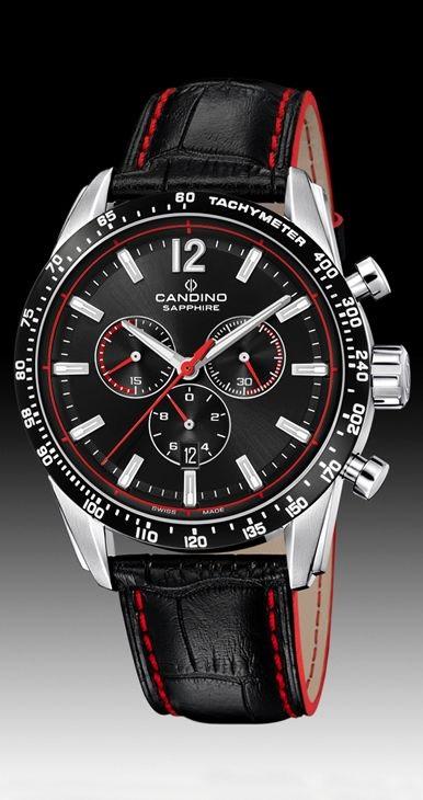 b233daf8c4b1 Reloj hombre Candino Swiss con correa Piel y cronómetro. - PRECIOS ...