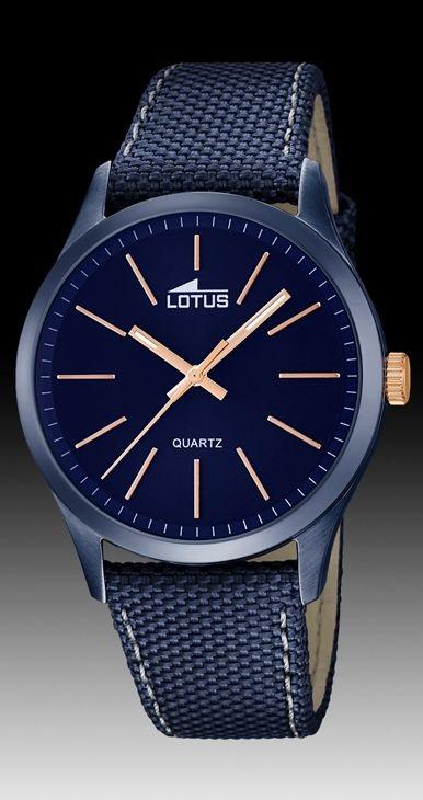 ab673c5a3638 Comprar barato Reloj Lotus caja IP azul correa tela con piel. 18166 ...