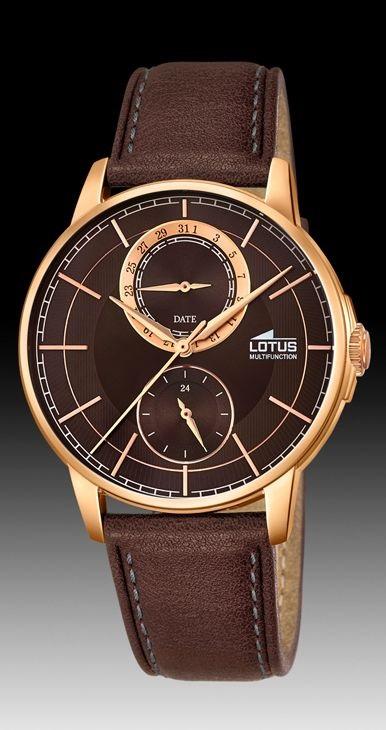 a52832d17365 Comprar barato Reloj Lotus hombre acero IP Rosa correa piel ...