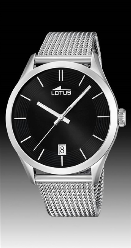 dc4cb17a6995 Comprar barato Reloj Lotus hombre acero malla milanesa 3 agujas ...