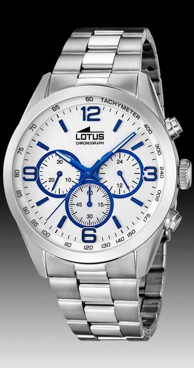 Reloj Lotus hombre cronómetro acero.