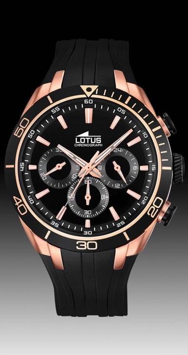 4816ea2b37fd Comprar barato Reloj Lotus hombre cronómetro correa PU negra. 18193 ...