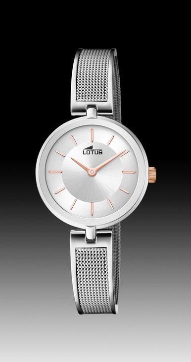 8c9c0b2653c6 Comprar en oferta Reloj Lotus mujer acero brazalete rígido con malla ...