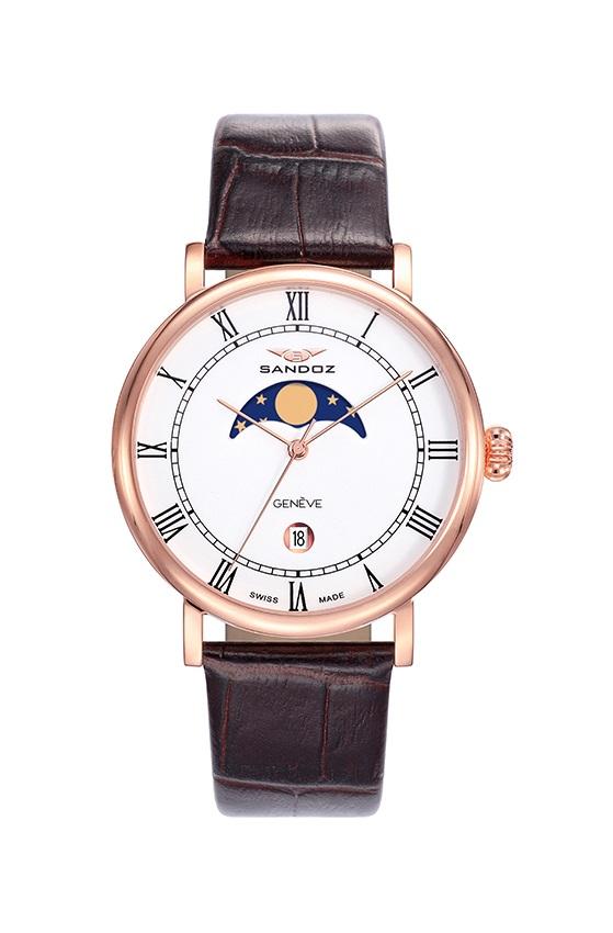 452129e5e6be Comprar barato Reloj Sandoz hombre caja IP Rosa y correa piel. ref ...