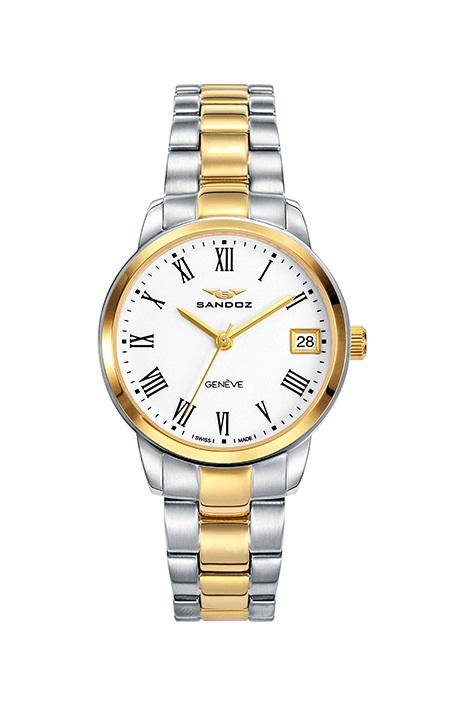 1cbf1eee9015 Comprar barato Reloj Sandoz mujer acero bicolor oro con cristal ...