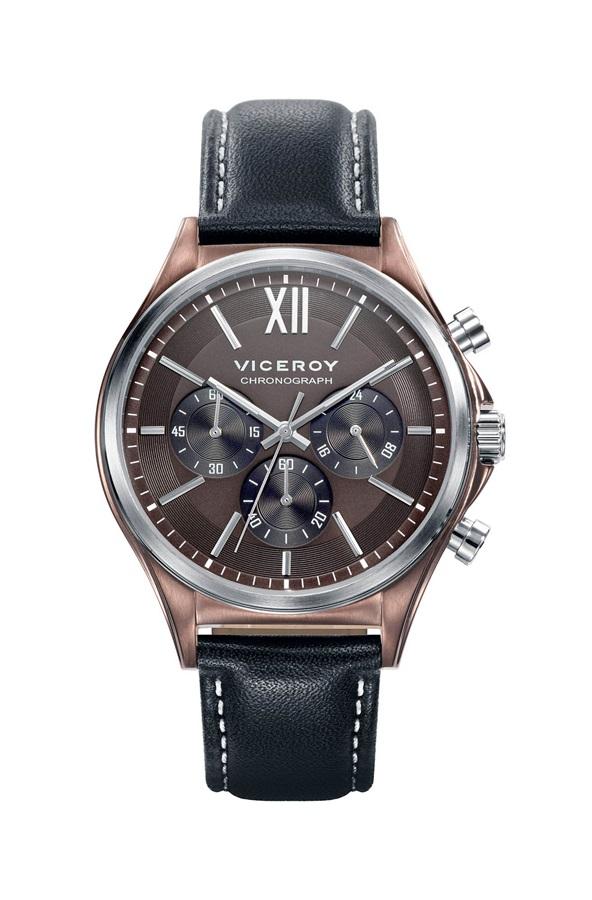 e8fd293bf9cd Reloj Viceroy hombre caja acero IP marrón correa Piel.
