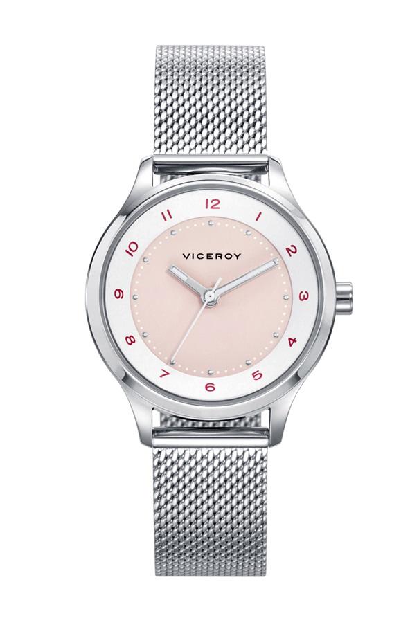 bd89e400b23f Reloj Viceroy niña acero malla milanesa.